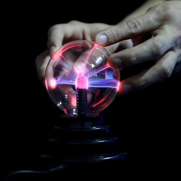 3 inch Plasma Ball Sphere Light Lamp with USB Magic Plasma Globe ...