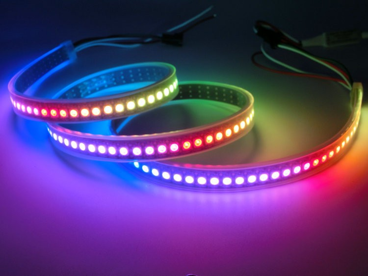 DC5V WS2812B IC Dream Magic Color RGB LED Strip 5050 Programmable control full color LED Strip xd 39b 5050 full color led module