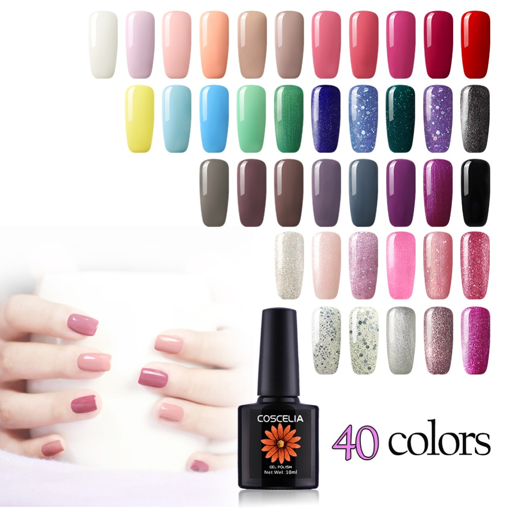 40 pc Nail art Gel ensemble de vernis Pour Manucure 10 ML faire tremper au large Semi Permanent UV vernis à ongles Gel led Vernis Pour Nail Kits
