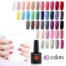 40pc Nail Art Gel Polish Set For Manicure 10ML Soak Off Semi Permanent UV LED Gel Nail Polish Lacquer Varnish For Nail Kits