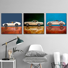 AAHH Animal Cartoon Posters Sports Car Painting/Picture Wall Art Picture Canvas Painting Print on Decor for Home No Frame
