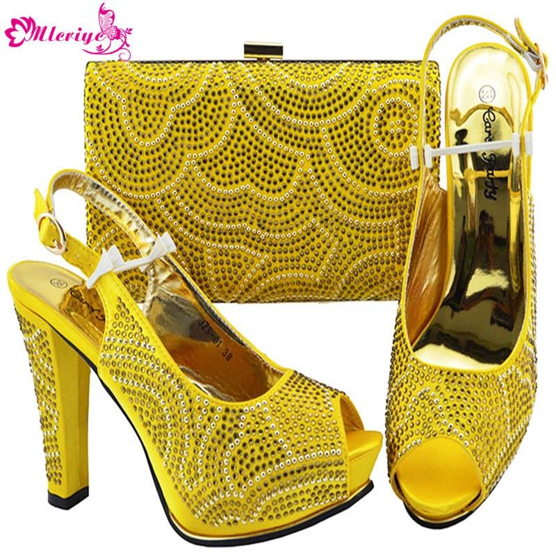 Diamantes Con azul Imitación Africana Negro Tacones amarillo Alta Fiesta Moda Bolso De Conjuntos rosa Zapatos Boda A Juego Bolsos Y Italiano Nueva púrpura UH6qxIx