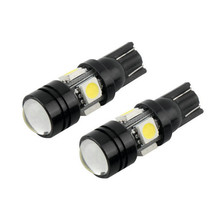 2pcs T10 LED W5W 194 for Samsung 5630 5730 6-SMD For Interior Dome License Plate Light Bulbs Xenon White Blue Amber Pink