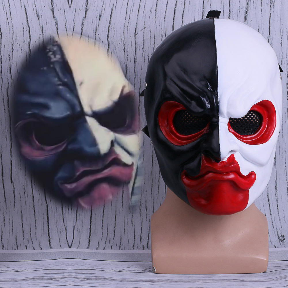 PAYDAY 2 Mask Scar Scarface Masks Game Payday 2 mask Cosplay Resin Halloween Party Prop (6)
