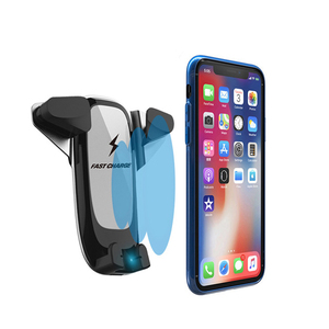Image 2 - รถไร้สายชาร์จโทรศัพท์สำหรับ iPhone ของ Apple XS XR X 8 Plus Samsung หมายเหตุ 9 S9 S10 รถผู้ถือโทรศัพท์ fast QI รถชาร์จอัตโนมัติ