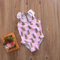 0-4 anos crianças impressão bandagem meninas um pedaço de banho maiô monokini bebê maillot de bain femme