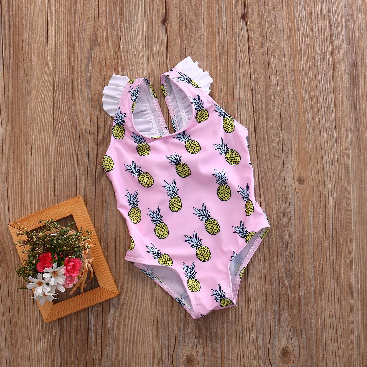 Детский слитный купальник с принтом для девочек, монокини, бандажный Купальник для девочек, купальный костюм для малышей, maillot de bain