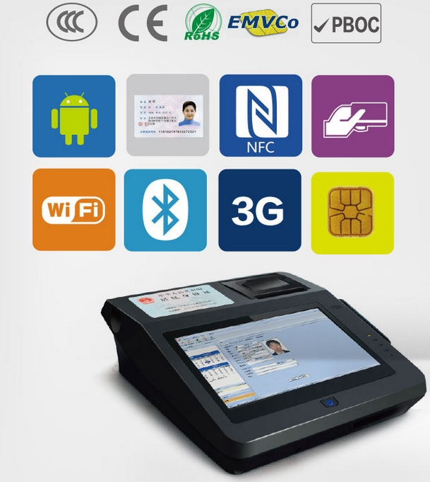 Id Car Smart Card 15 Inch All In One Touch Screen POS Terminal/all In One POS System
