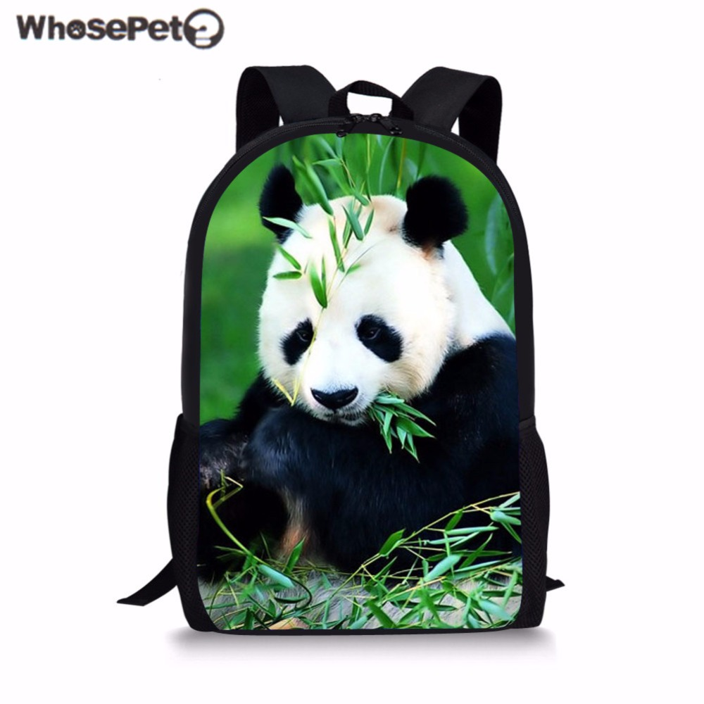 WHOSEPET Children School Bags Funny Dabbing Panda Primary Schoolbag for Kids Boys Book Bag Student Campus Backpack Mochila Bolsa