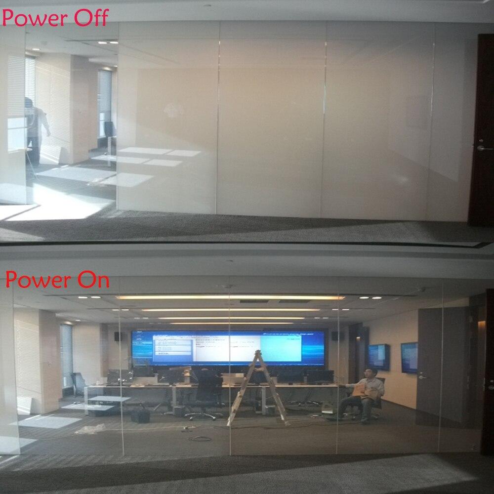 Film intelligent de teinte de fenêtre de PDLC de 40 pouces x 40 pouces pour l'écran de projection arrière