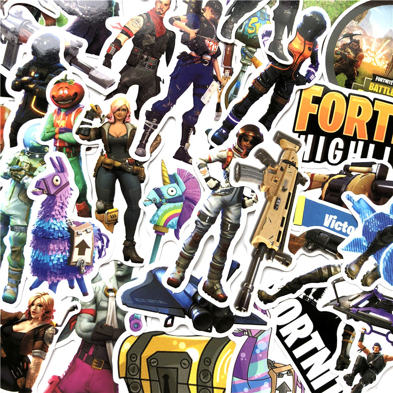 40Pcs/Lot Steam Game Fortnite High Lights Royal Battle Moment Stickers For Luggage Bag Car Laptop Skateboard Bicycle Phone Decal