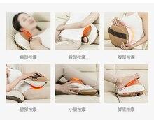 цена на Full Body Massage Cushion Pillow Cervical Massager 4D Kneading Electric Vibrating Magnet Massager Shiatsu Shoulder Back Massage