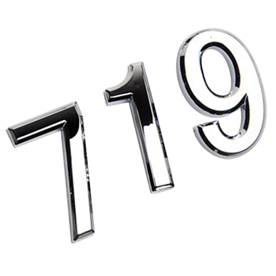Серебряный номер Современная табличка номер дом отель дверь адрес стикер с цифрами табличка знак 0-9