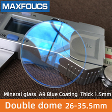 Watch Glass Blue-Coating Double-Dome-Thickness AR To 26-Mm Diameter