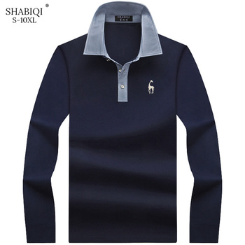 Keep warm New Fashion Men Polo Shirt Solid Color Slim Fit Polo Men Long Sleeve Mercerized Cotton Casual Polos Shirt Mens S-10XL new fashion polos high quality mens print short sleeve polo cotton casual polo shirt homme comfortable
