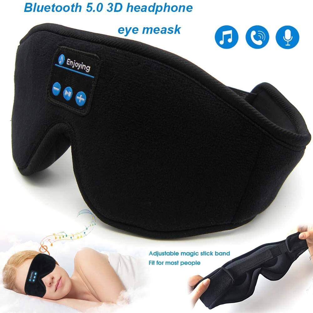 JINSERTA Bluetooth 5 0 Wireless Stereo Earphone 3D Sleep Mask Headband Sleep Soft Earphones Sleeping Eye Mask Music Headset
