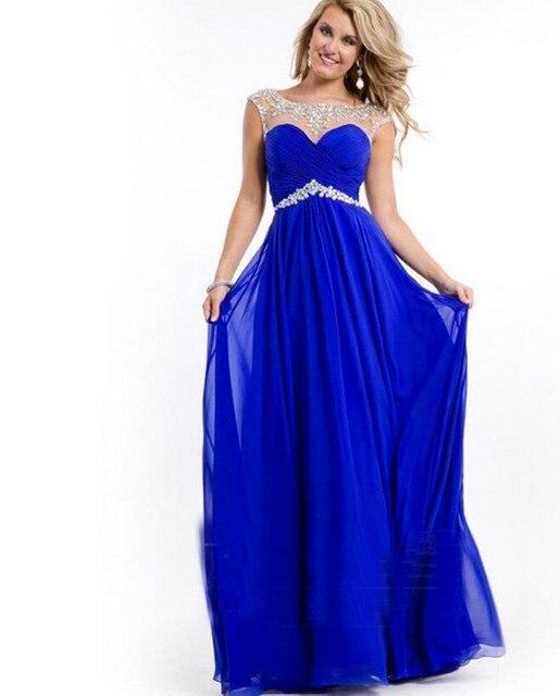 Vestidos azul rey con plateado cortos