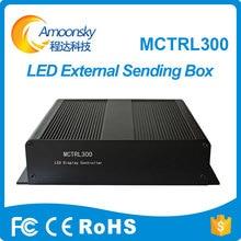 Tela de exibição de publicidade amoonsky uso embutido led de vídeo sender box mctrl300 novastar enviar cartão msd