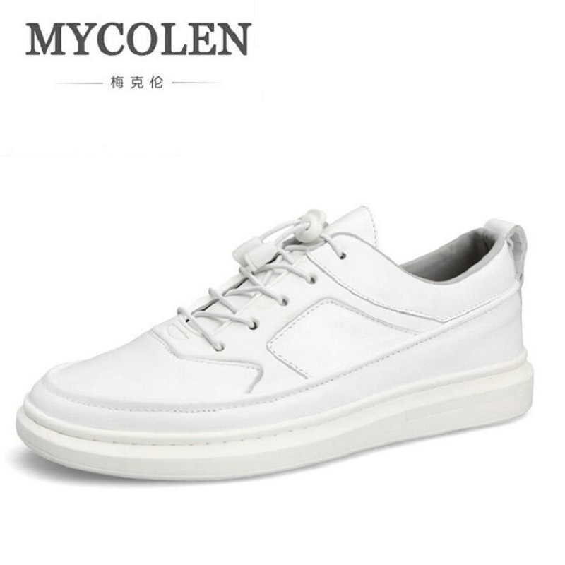 MYCOLEN 2017 New Spring/Autumn Men Casual Shoes Breathable Lace-Up Shoes Espadrilles Fashion Popular White Men's Flats mycolen new 2018 spring autumn breathable black canvas shoes men flats lace up fashion mens casual shoes brand sneaker