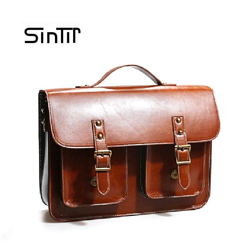 SINTIR бренд Для женщин из натуральной кожи Бизнес сумки женские Рабочие ноутбук сумка женский Портфели файл плеча Повседневное сумка
