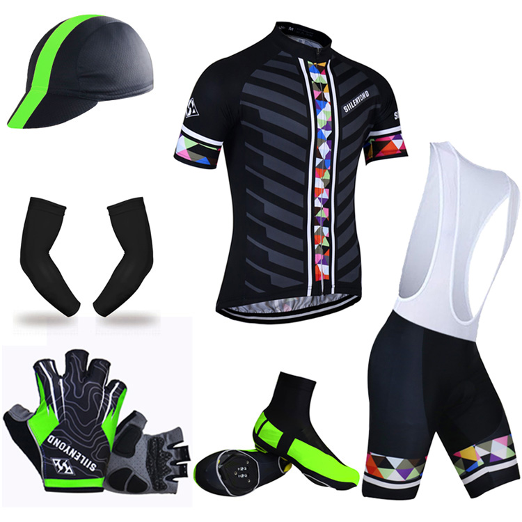 ФОТО Siilenyond Summer Big Cycling Set ! 2017 Shorts Sleeve Cycling Jersey MTB Bicycle Clothing Maillot Ropa Ciclismo Bike Clothes