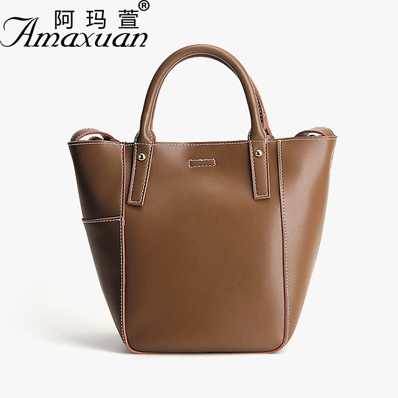 Women bags 2017 new leather handbags fashion simple Napa leather leather bag handbag shoulder Messenger bag BH1406 2017 new female genuine leather handbags first layer of cowhide fashion simple women shoulder messenger bags bucket bags