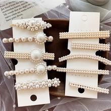 AOMU Korea Vintage Imitiation Pearl Hairpins Hair Clips for Women Girls  Flower Shape Rhinestones Hair Accessories a6e250301661