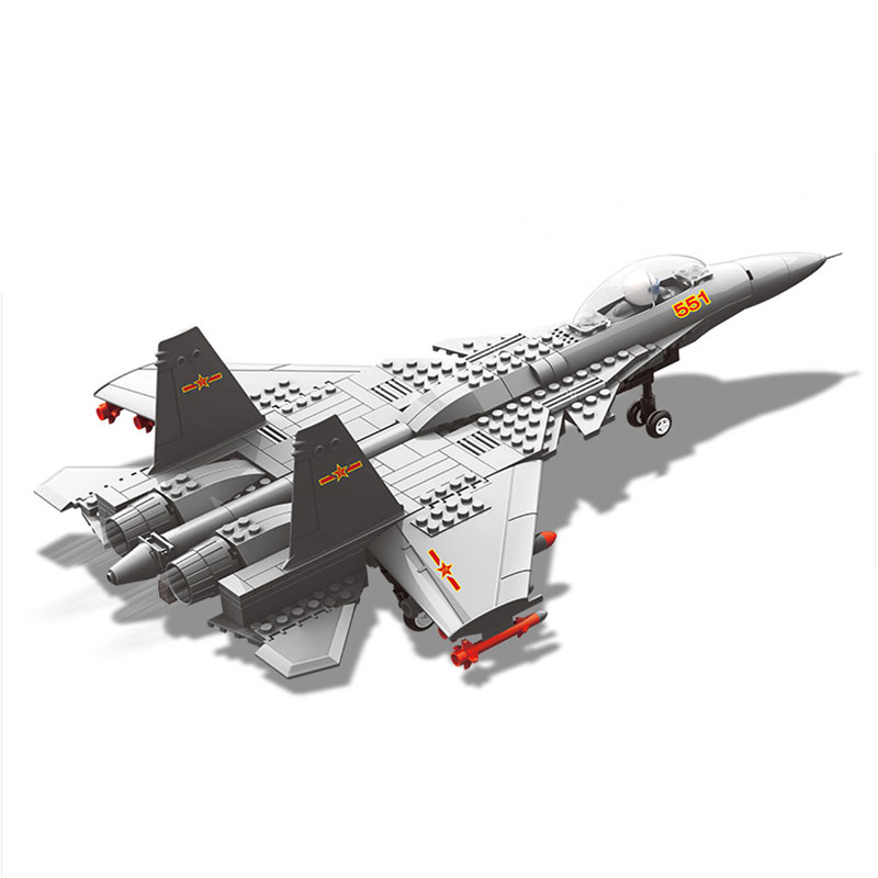 Military Enlighten Building Blocks Army DIY Bricks Fighter Airplane Aircraft Model J-15 WZ10 J-20 F-15 V-22 Gift For Children enlighten building blocks military cruiser model building blocks girls