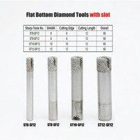 מכונת סוף Bit נתב מיל סוף ישר 6-12mm Shank Diamond Cutter עבור אריחי אבן גילוף חרט מכונת מזל CNC כרסום חיתוך כלי (1)