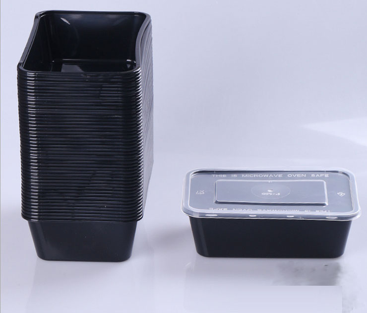 Microwavable Food Container With Lid Bento Box Black Accept Whole And Oem