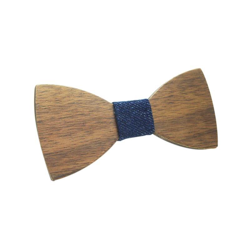 Fashion Boys Wooden Bow Ties Children Kids Bowties Butterfly Cravat Wood Tie Kids Wooden Bowtie