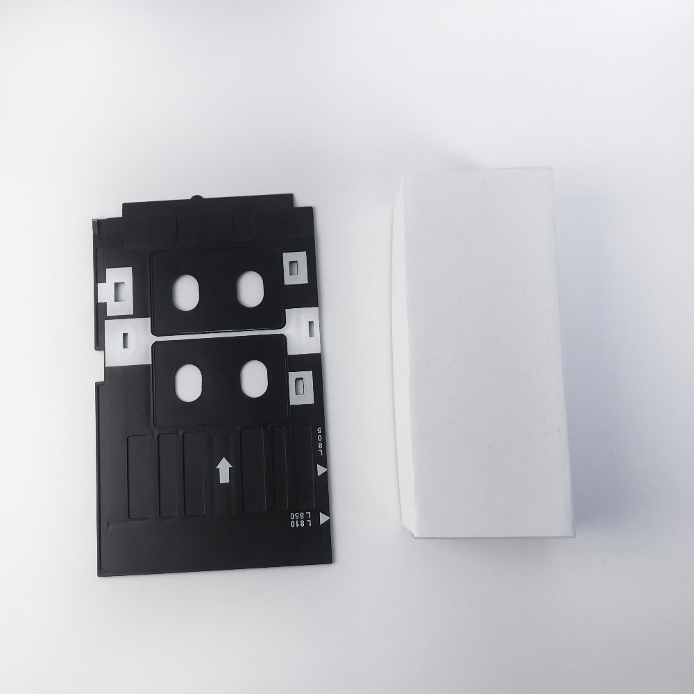 US $55 0 |10pcs Card Tray for Epson L805 P50 T50 R280 printers to print  white blank business pvc card+20pcs free balnk inkjet cards -in Business  Cards
