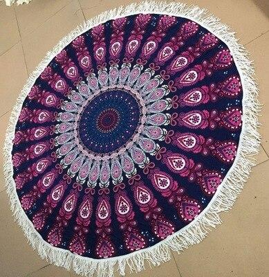 G010 хлопковое пляжное полотенце круговой пляжное полотенце Yoga коврик