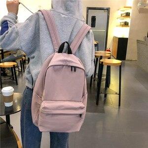 Image 3 - DCIMOR nowy wodoodporny nylonowy plecak damski Japan Style Solid Color Mochila Feminina Mujer torba podróżna tornister dla nastolatki