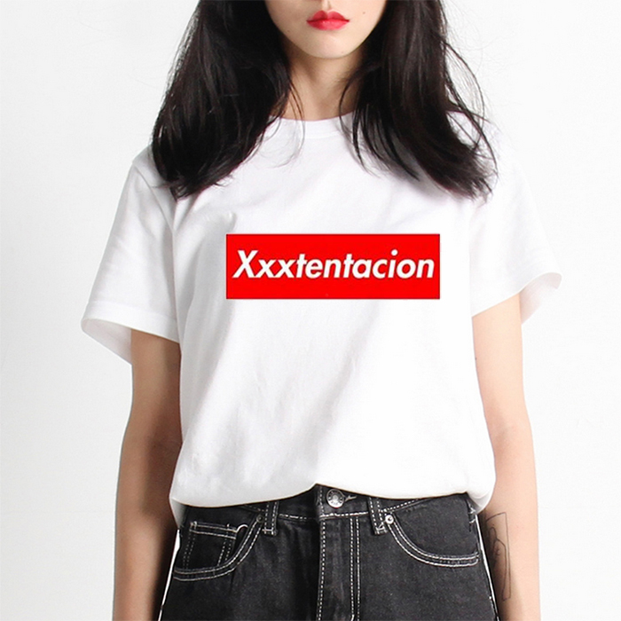 Xxxtentacion T shirt woman 2018 Summer Women Letter Print T-shirt Swag Harajuku Vogue Female Top Tshirt