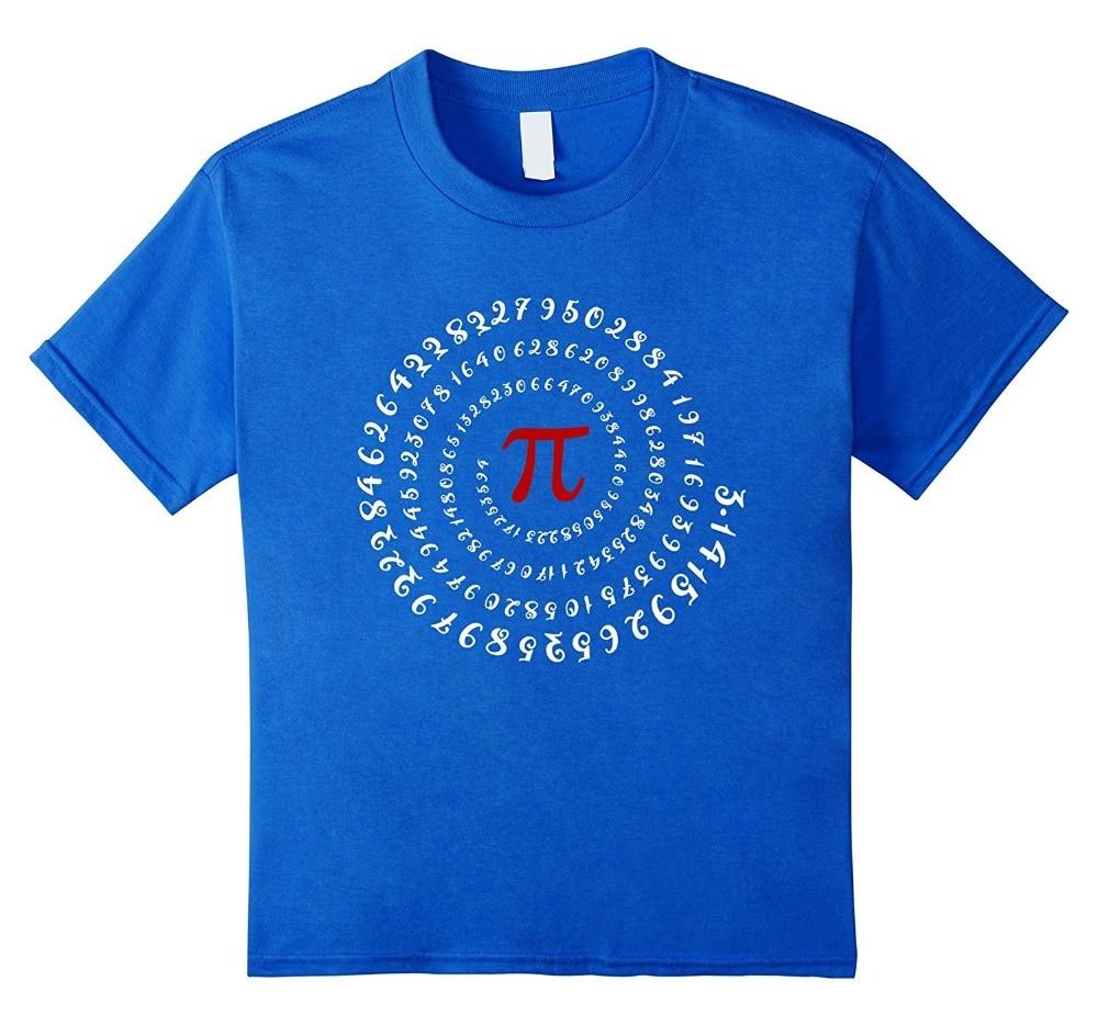 2018 Streetwear Short Sleeve Tees Math Pi Symbol Spiral Design T-Shirt Letter T Shirt men Casual T-shirt Custom