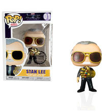 FUNKO POP New Marvel Avengers: Endgame Stan Lee & QUAKE with Infinity Gauntlet Action Figure Model Toys for Children gift(China)