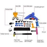 Car Tools Repair Paintless Dent Repair Tool Car Hail Damage Tool Hot Melt Glue Sticks Glue Gun Puller Tabs Kit Ferramentas