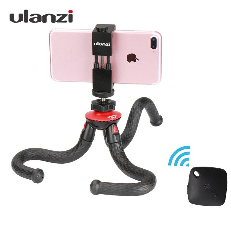 Ulanzi Гибкая Осьминог телефон штатив с металлический держатель телефона адаптер Bluetooth Дистанционное управление для IPhone смартфон GoPro