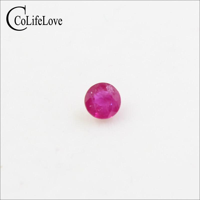 4 мм круглый натуральный рубин свободный драгоценный камень для свадьбы обручальное кольцо оптовая продажа Африканский Рубин драгоценный камень ювелирные изделия DIY