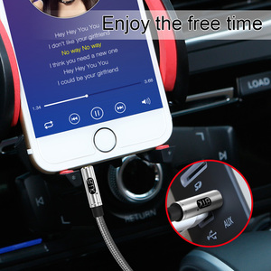 Image 5 - EMK AUX כבל 3.5mm עזר אודיו כבל AUX כבל עבור רכב/בית סטריאו, אוזניות, עבור iPhone הד נקודה, רמקול, Sony, פעימות