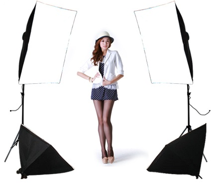 FREE SHIPPING single lamp softbox 4 lamp set photography light softbox set photographic equipment Photo Studio Equipment Set