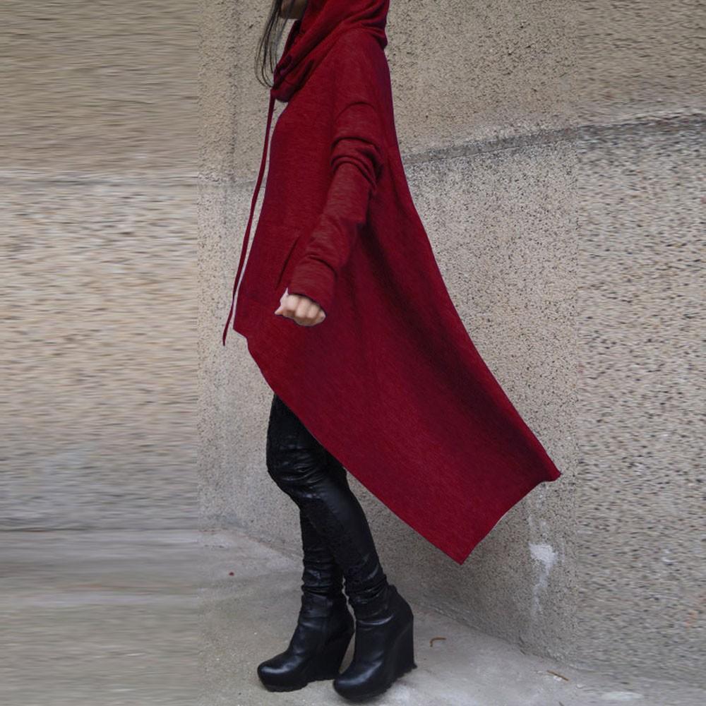 Preself Oversize Sweter Z Kapturem Bluza Kobiety Hoody Blaty Kobiet Luźna Z Długim Rękawem Płaszcz Z Kapturem Na Co Dzień Znosić Pokrywa Swetry Ubrania 6