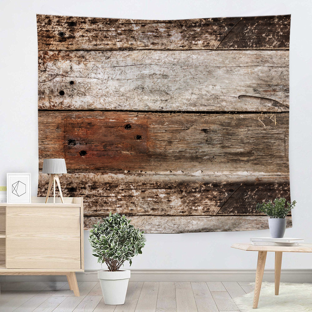 Creative Bricks Wooden floor Tapestry Beach Throw Mat Yoga Rug Wall Hanging Gobelin Livingroom Bedding Home Decor Customizable