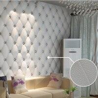 טפט נייר טפט 3d רך תיק דמוי עור לבן PVC פארדה דה papel טפט קיר רקע טלוויזיה ספת מיטה