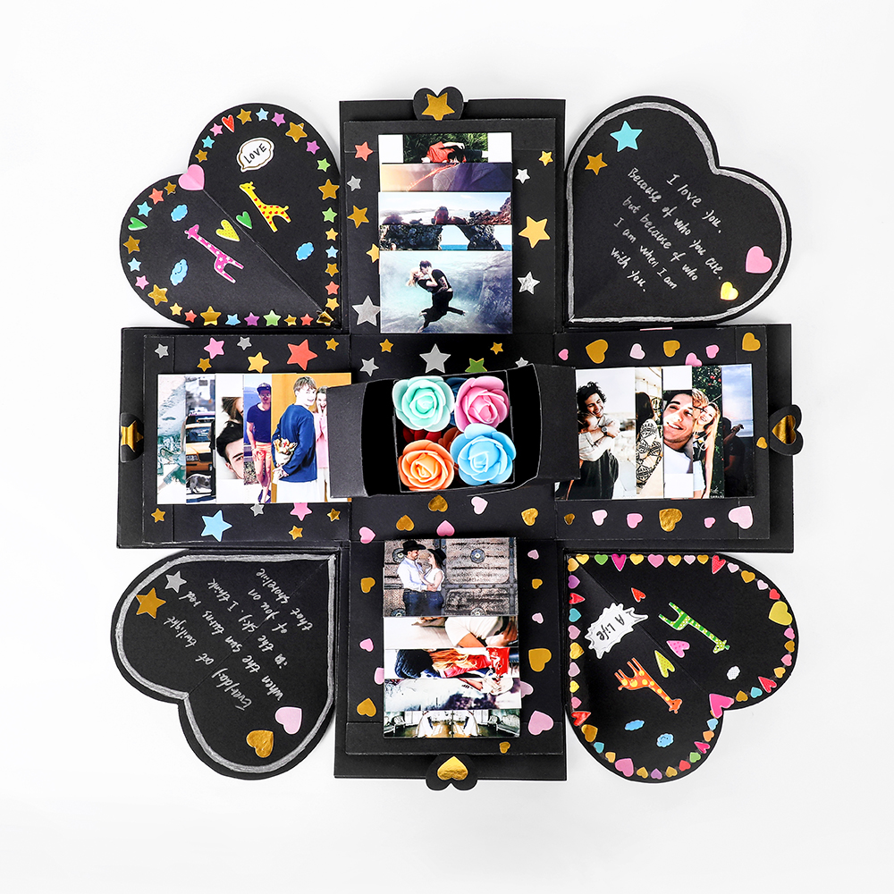 Free 20pcs Printing Of Photos DIY Love Explosion Box Gift Wedding Box Birthday Photo Album For Anniversary Valentine's Day