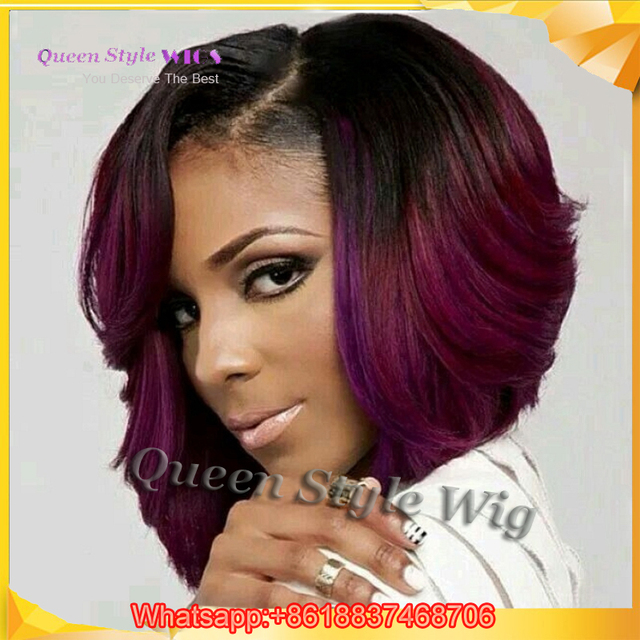 Toko Online Trendy Gaya Rambut Pendek Keriting Wig Salon Pendek - Gaya rambut pendek depan