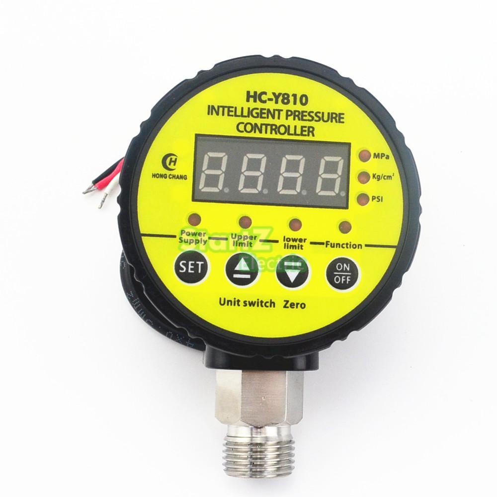 AC220V 0-40Mpa compresseur d'air pressostat numérique manomètre relais sortie