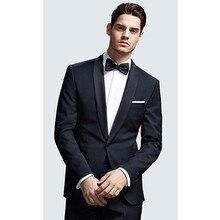 men suits for wedding groom tuxedo black dress slim fit custom made suit for 2017 wool bleed formal wear