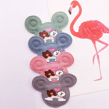 32pcs/lot 6*5cm Padded Mouse Cat Shape Felt Garment Appliques Hair Hat Decorative Ornament